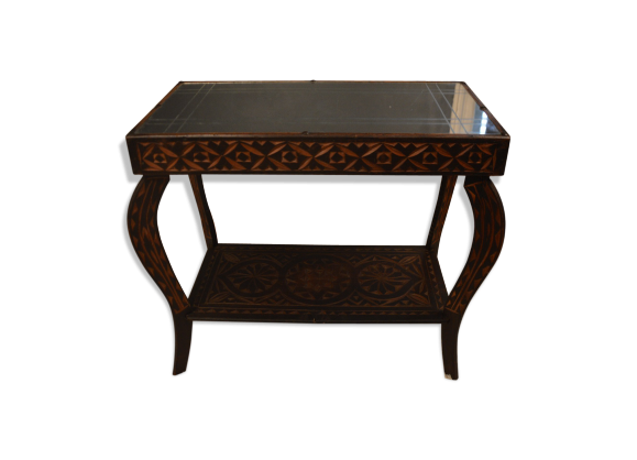 table basse des ann es 60 bois mat riau bois. Black Bedroom Furniture Sets. Home Design Ideas