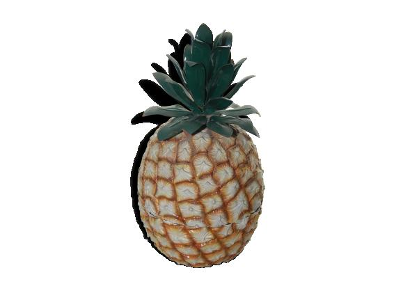 seau gla ons ananas fauchon ann es 80 m tal marron dans son jus vintage. Black Bedroom Furniture Sets. Home Design Ideas