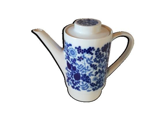 Cafetiere porcelaine blanche et bleue germany