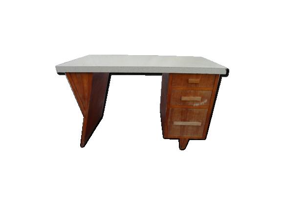 bureau am ricain vintage bois mat riau bois couleur dans son jus design. Black Bedroom Furniture Sets. Home Design Ideas