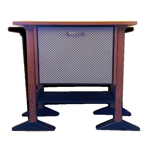 meuble bar vintage revisit bois mat riau noir bon tat vintage. Black Bedroom Furniture Sets. Home Design Ideas