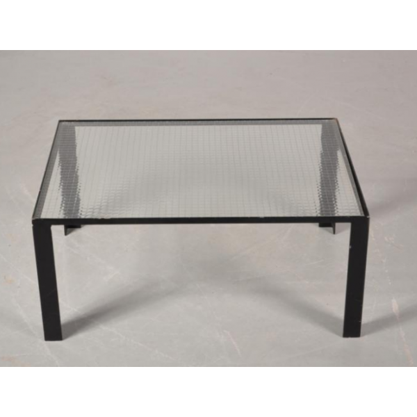 Table basse en verre transparent - Petite table basse en verre ...