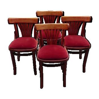 Chaise de couleur rouge vintage d 39 occasion - Chaise de bistrot vintage ...