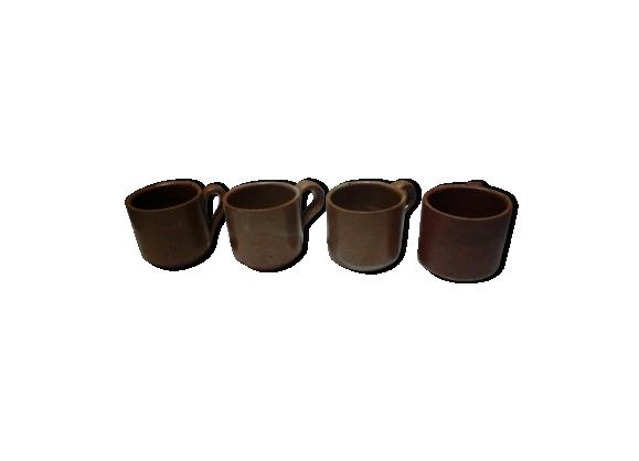 4 tasses en grès