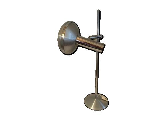 Lampe aluminium brossé vintage 70