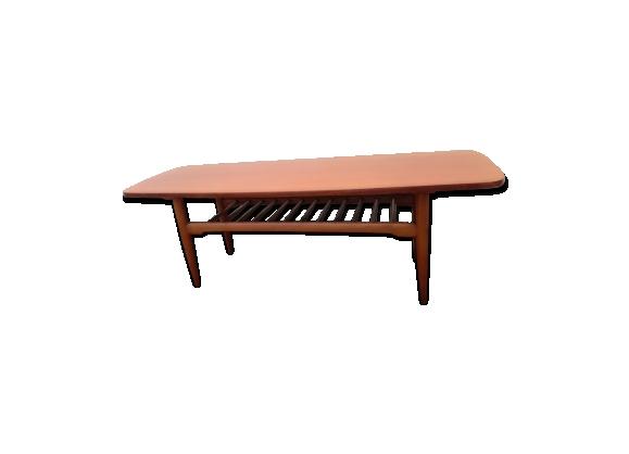 Table basse vintage en teck design scandinave