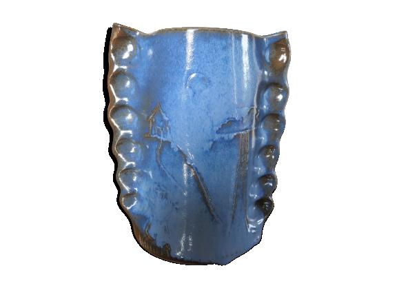 Vase en céramique signé années 50/60