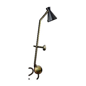 Lampe de table cocotte en laiton et contrepoids