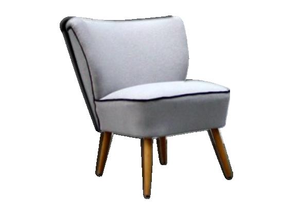 fauteuil cocktail vintage des annes 50 gris - Fauteuil Cocktail Vintage