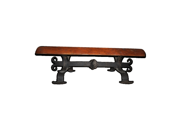 Table chêne massif brut ferronnerie