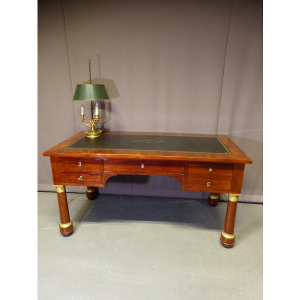 bureau empire bois mat riau vert bon tat classique 142157. Black Bedroom Furniture Sets. Home Design Ideas