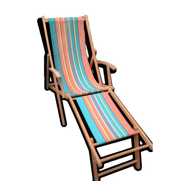 Chaise longue avec repose pied latest chaise avec repose for Chilienne repose pied