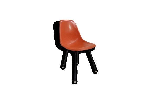 Chaise dsx orange, charles & ray eames - 1960