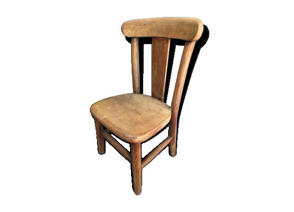 chaise en bois blond bois mat riau marron bon tat vintage. Black Bedroom Furniture Sets. Home Design Ideas