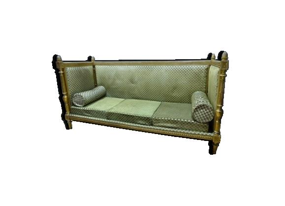 Canapé Louis XVI doré