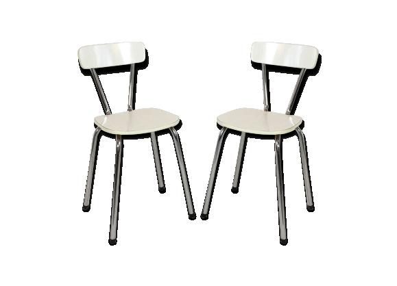 paire de chaises en formica 1970 formica blanc bon. Black Bedroom Furniture Sets. Home Design Ideas