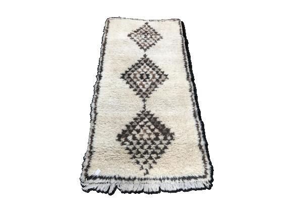 tapis marocain berb re 188x97cm tissu multicolore bon tat thnique. Black Bedroom Furniture Sets. Home Design Ideas