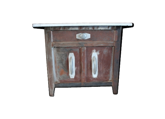 table industriel m tal. Black Bedroom Furniture Sets. Home Design Ideas
