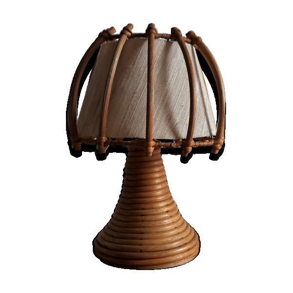 lampe rotin ann e 60 rotin et osier bois couleur. Black Bedroom Furniture Sets. Home Design Ideas