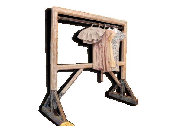 portant en bois bois mat riau dans son jus vintage. Black Bedroom Furniture Sets. Home Design Ideas