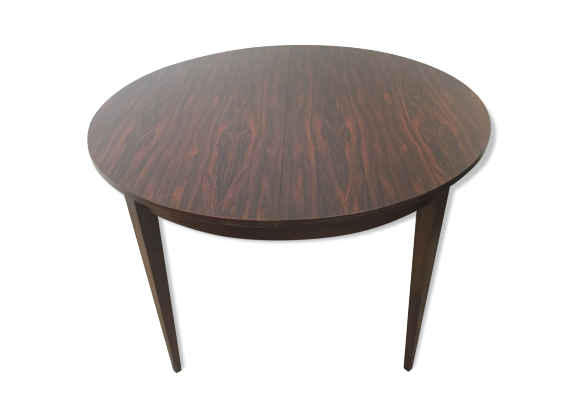 Table rallonge scandinave en palissandre bois for Table scandinave a rallonge