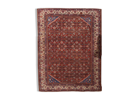tapis persan mahal fait main 274cm x 359cm tissu rouge bon tat vintage. Black Bedroom Furniture Sets. Home Design Ideas