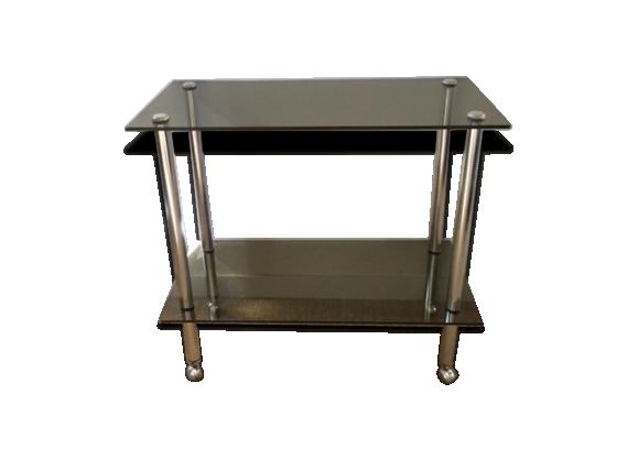 desserte 70 39 s verre et cristal transparent dans son. Black Bedroom Furniture Sets. Home Design Ideas