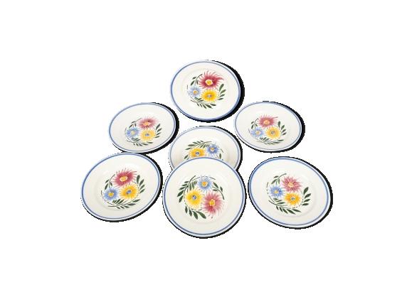 Lot de 7 assiettes Sarreguemines modèle Rustique