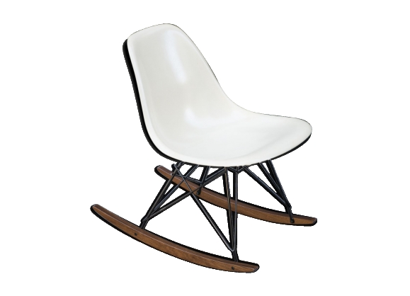 Rocking chair RAR Eames vintage Herman Miller parchemin