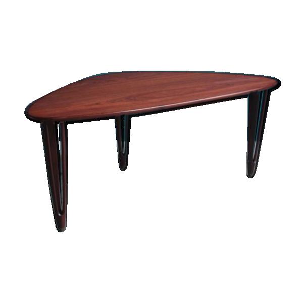 Table basse 3 pieds en teck de bc mobler 1950s teck - Table basse 3 pieds ...