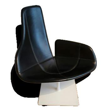 Moroso fauteuil fjord cuir noir