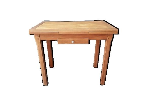 Table de cuisine en bois vintage années 50