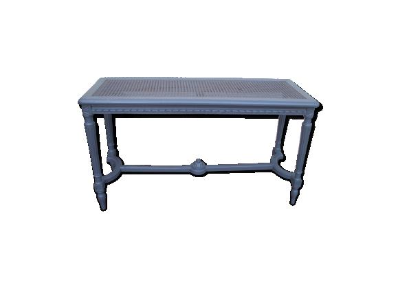 banc e piano louis xvi bois mat riau gris bon tat art d co. Black Bedroom Furniture Sets. Home Design Ideas