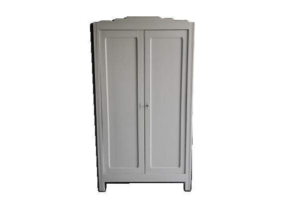 grande armoire parisienne bois mat riau gris bon. Black Bedroom Furniture Sets. Home Design Ideas