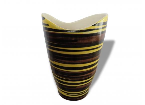 Vase en céramique St Clément forme libre des années 50 60
