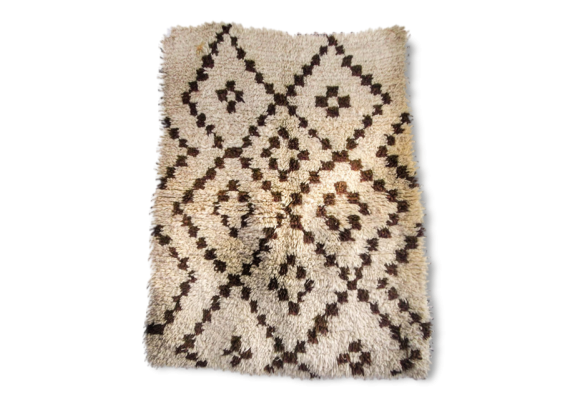 tapis beni ouarain tissu beige dans son jus thnique 151309. Black Bedroom Furniture Sets. Home Design Ideas