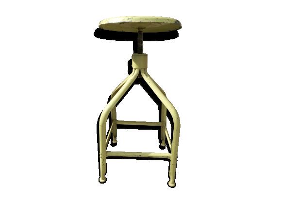 tabouret haut vis nicolle m tal vert bon tat industriel. Black Bedroom Furniture Sets. Home Design Ideas