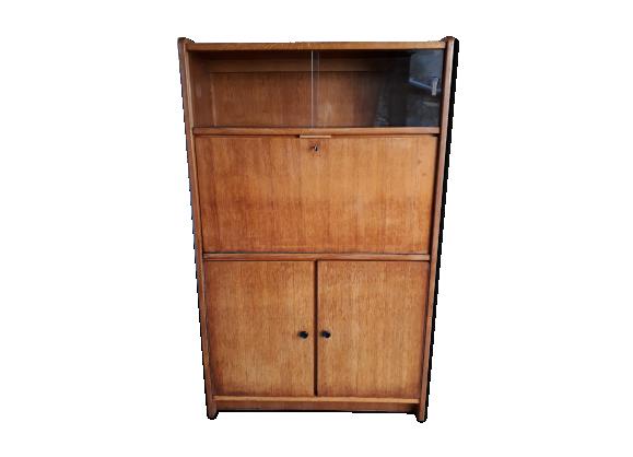 secr taire vintage en bois blond bois mat riau marron dans son jus vintage. Black Bedroom Furniture Sets. Home Design Ideas