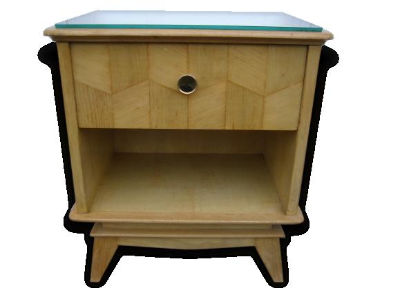 chevet bois clair ann es 50 le fait main. Black Bedroom Furniture Sets. Home Design Ideas
