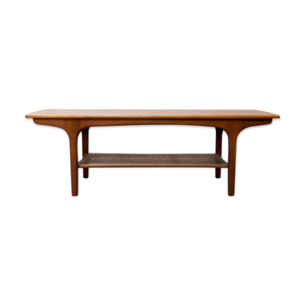 Table basse scandinave teck rotin teck bois couleur for Table basse scandinave couleur