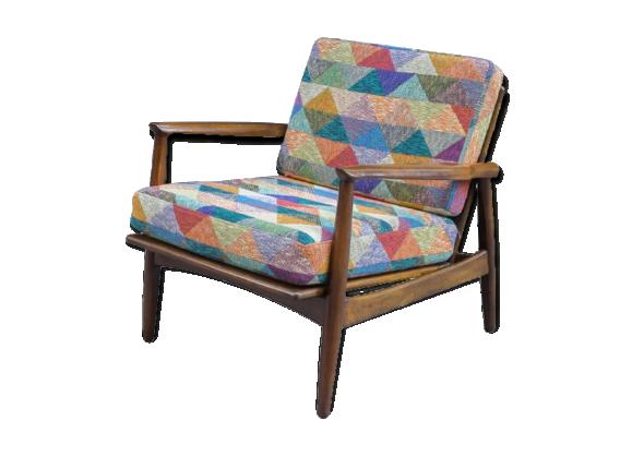 fauteuil danois bois mat riau bois couleur bon. Black Bedroom Furniture Sets. Home Design Ideas
