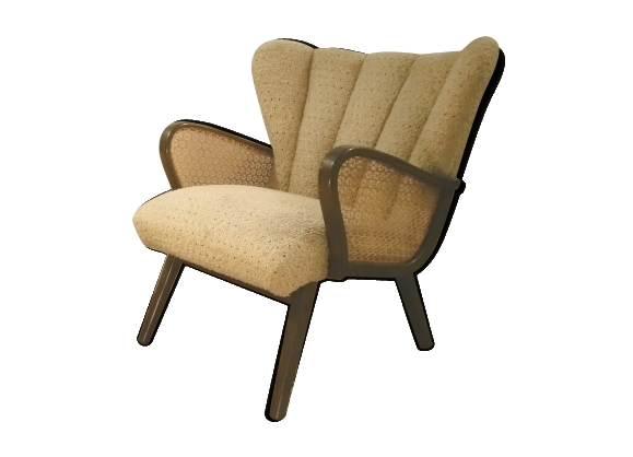 Fauteuil cocktail wing chair années 50