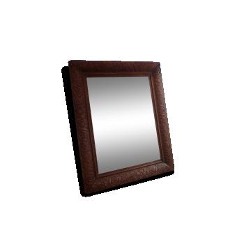 ancien miroir laiton 66x48cm vintage 1950 laiton dor bon tat vintage. Black Bedroom Furniture Sets. Home Design Ideas