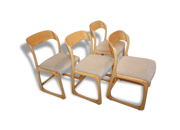 suite de 2 chaises baumann traineau bois mat riau. Black Bedroom Furniture Sets. Home Design Ideas