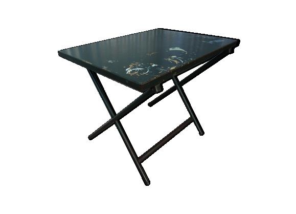 Old vintage steel folding table