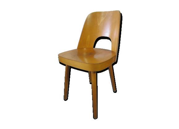 Chaise en contreplaqu par oswald haerdtl pour thonet for Chaise pour bronzer