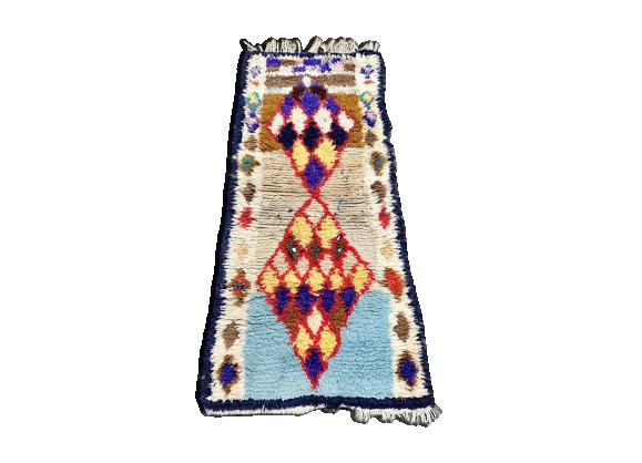 tapis marocain berb re 176x75cm tissu multicolore bon tat thnique. Black Bedroom Furniture Sets. Home Design Ideas