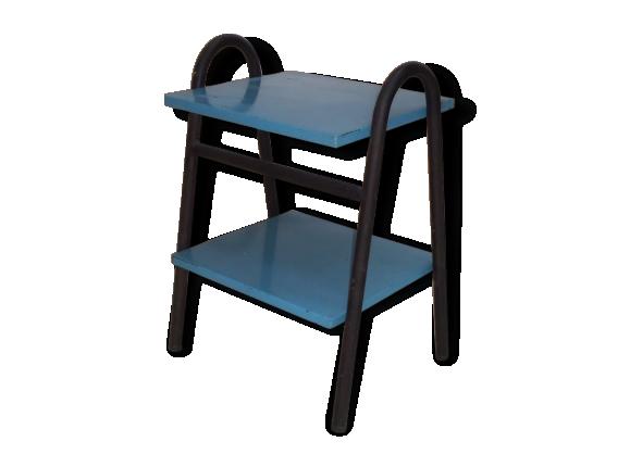 Petite table d 39 appoint m tal bleu bon tat vintage for Petite table d appoint