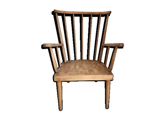 fauteuil ventail baumann bois mat riau bois couleur bon tat scandinave. Black Bedroom Furniture Sets. Home Design Ideas