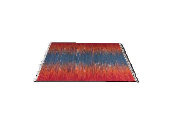 tapis kilim tiss bleu et rouge tissu multicolore bon tat thnique. Black Bedroom Furniture Sets. Home Design Ideas